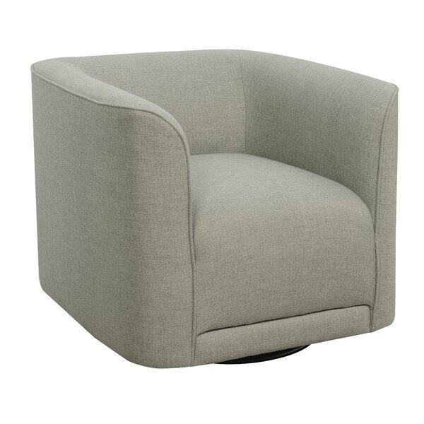 Seibert Swivel Barrel Chair by Orren Ellis