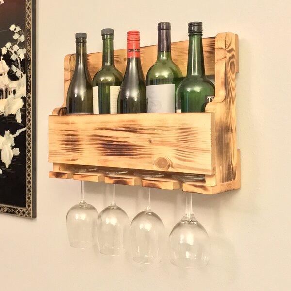 5 Bottle Wall Mounted Wine Bottle Rack by Pomegranate Solutions, LLC
