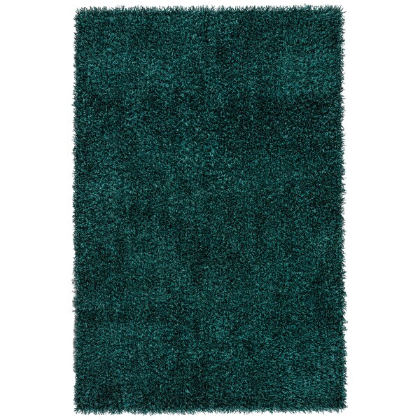 Woodside Hand Woven Teal Blue Area Rug by Mercer41