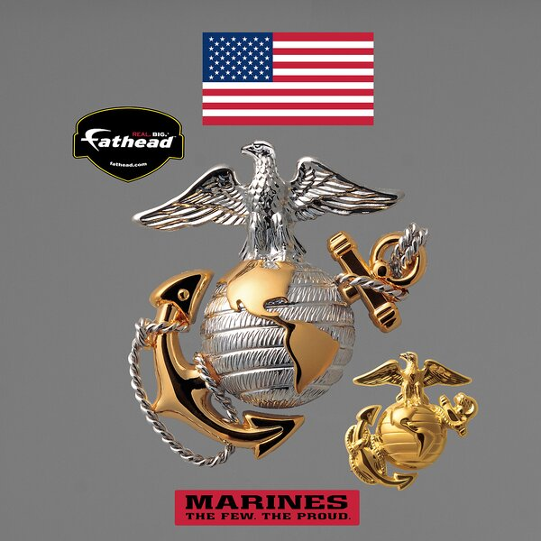 Military USMC Globe and Anchor Wall Decal by Fathead
