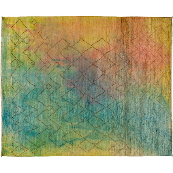 One-of-a-Kind Moroccan Hand-Knotted Multicolor Area Rug by Darya Rugs