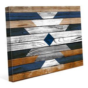 'Bleached Southwestern Pattern' Graphic Art on Wrapped Canvas by Click Wall Art