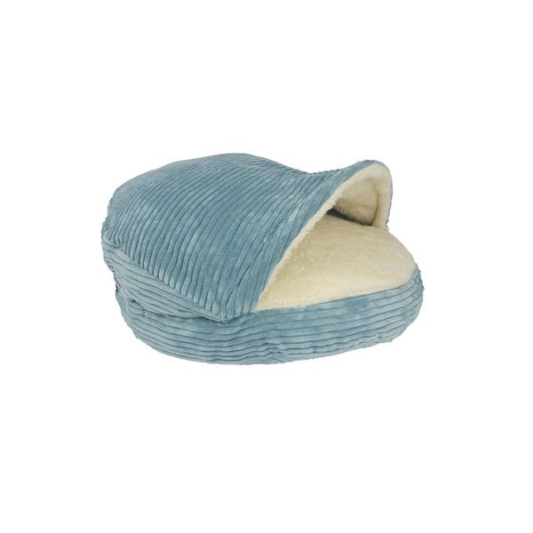 Burton Corduroy Round Cave Hooded Pet Bed with Sherpa Interior by Tucker Murphy Pet