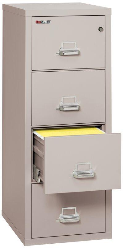 Elegant Fireproof 4 Drawer Vertical File Cabinet