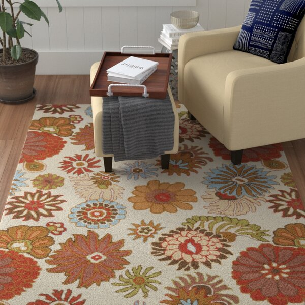 Ross Floral Ivory / Multi Contemporary Rug by Winston Porter