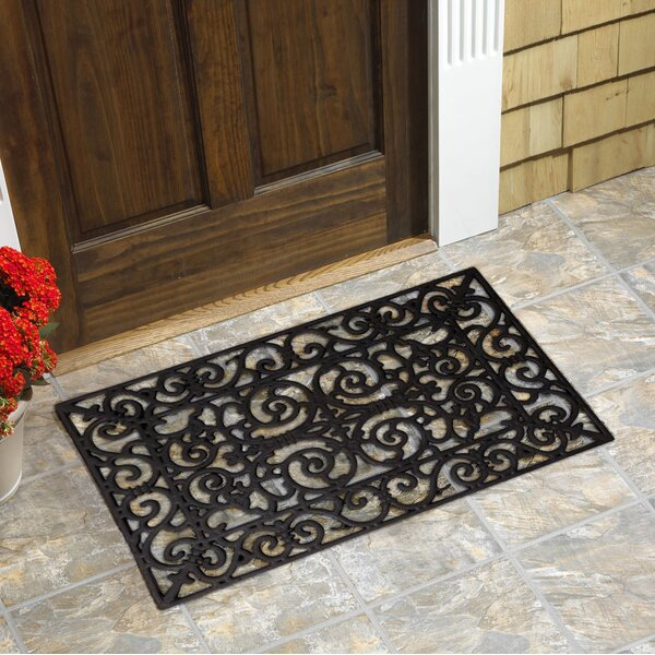 Heffernan Scroll Natural Rubber Doormat by Winston
