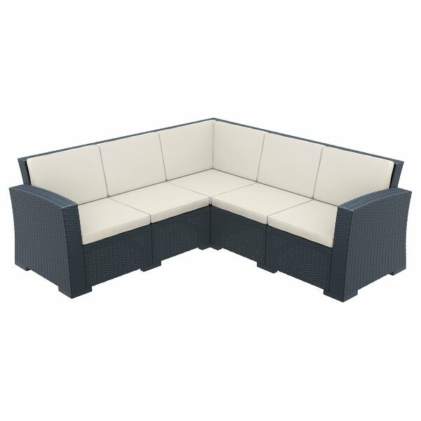 Vedder 5 Piece Sectional Seating Group with Cushions by Brayden Studio