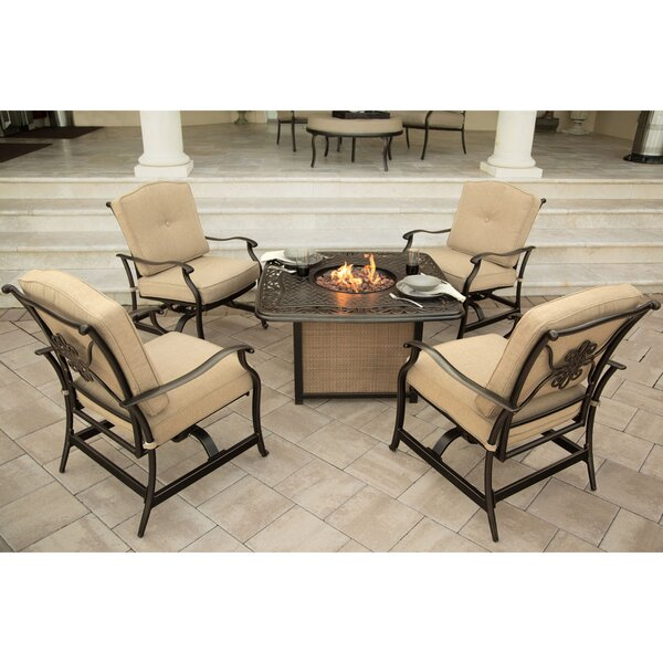 Lauritsen 5 Piece Conversation Set with Cushions by Three Posts