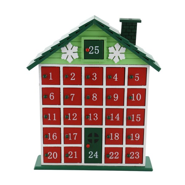Rustic Cabin Advent Wooden Calendar Countdown by The Holiday Aisle