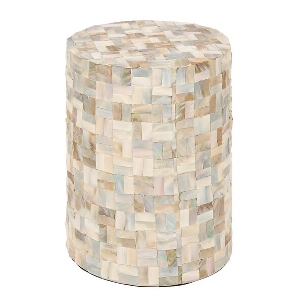 Wood Shell Garden Stool by Cole & Grey