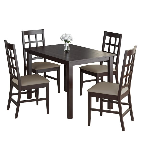 Cumberbatch 5 Piece Solid Wood Dining Set by Red Barrel Studio