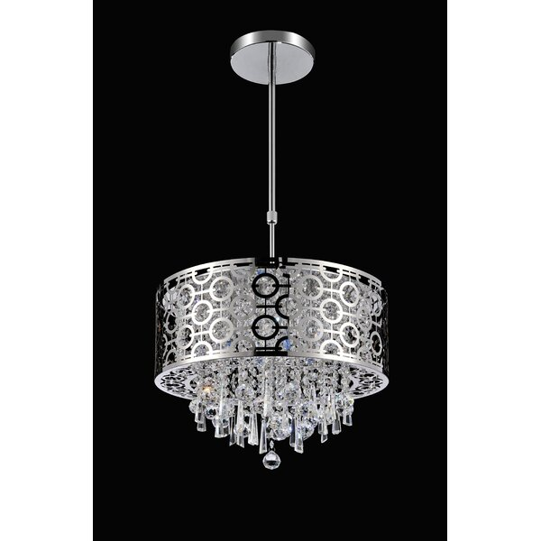 3-Light Drum Chandelier by CWI Lighting