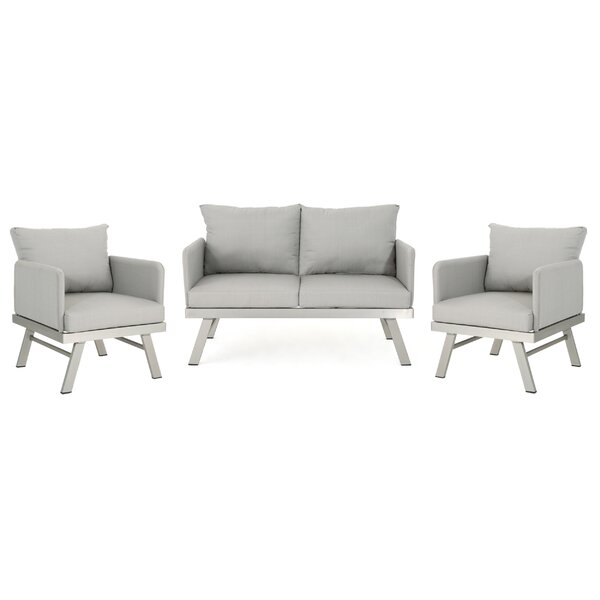 Mcclaine 3 Piece Sofa Seating Group by Wrought Studio