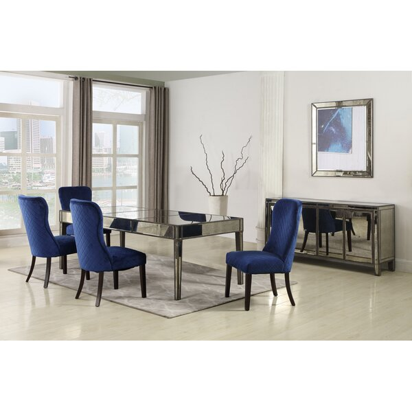 Thorp 5 Piece Solid Wood Dining Set by Rosdorf Park