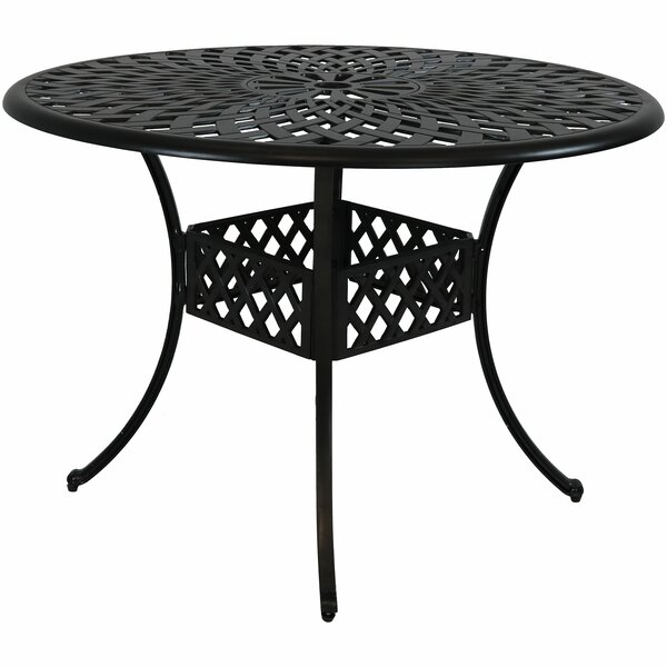 Middlet Cast Aluminum Patio Dining Table by Charlton Home