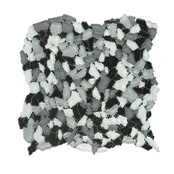 Glass Mosaic Tile in Gray/White by QDI Surfaces