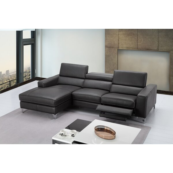 Looking for Carrolltown Leather Reclining Sectional By Wade Logan Great price