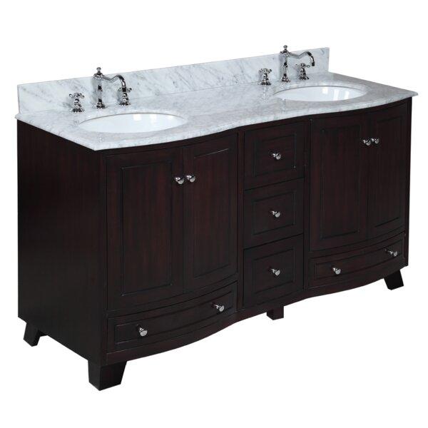 Palazzo 60 Double Bathroom Vanity Set by Kitchen Bath Collection