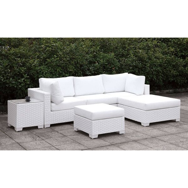 Kriemann 3 Piece Sectional Seating Group with Cushions by Brayden Studio