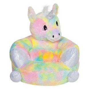 Best Choices Tintah Children's Plush Rainbow Unicorn Character Faux Fur Chair ByHarriet Bee