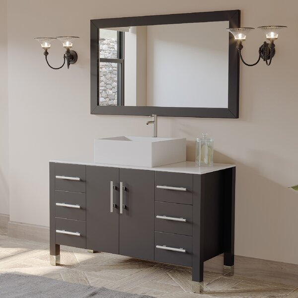 Jessa '' Bathroom Vanity Set with Mirror 47 Single Bathroom Vanity Set with Mirror by Ivy Bronx
