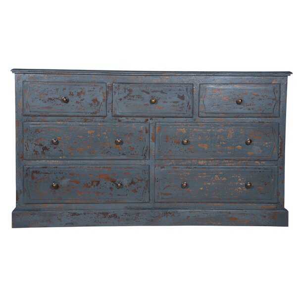 Matteo 7 Drawer Double Dresser by Rosecliff Heights