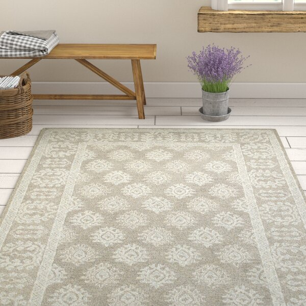 Sirois Hand-Tufted Oriental Gray/Beige Area Rug by One Allium Way