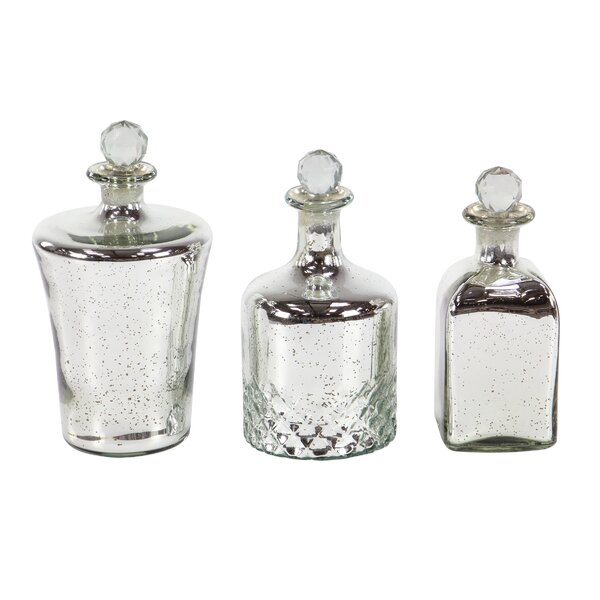 Arviso 3 Piece Decorative Bottle Set by House of Hampton