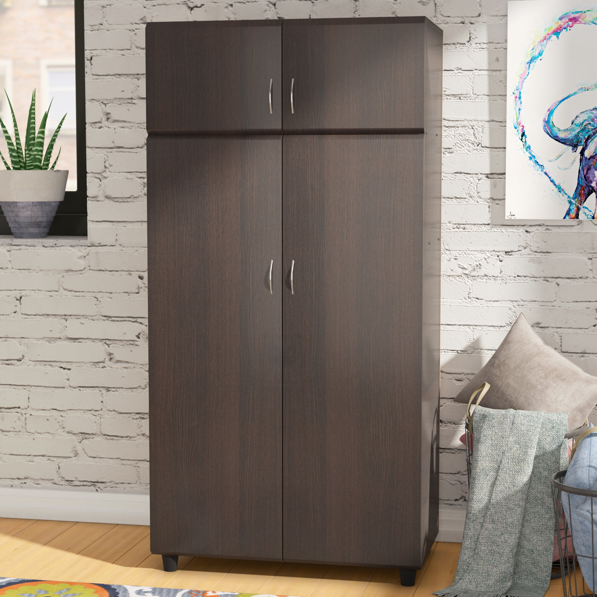 product garden home stellar free armoire white furniture shipping today overstock wardrobe