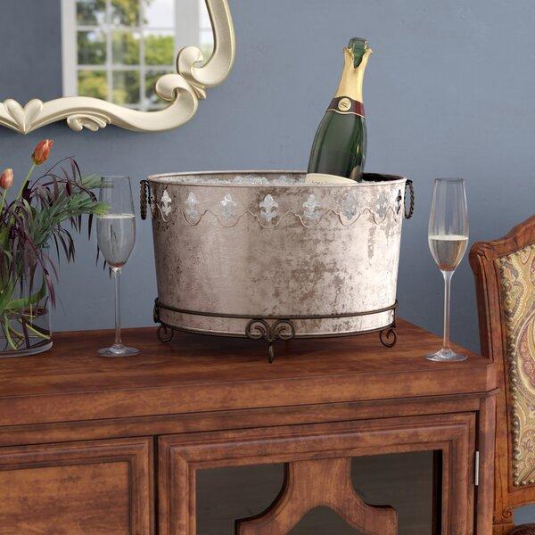 Kinsley Galvaniz Fleur de Lis Oval Tub by Fleur De Lis Living