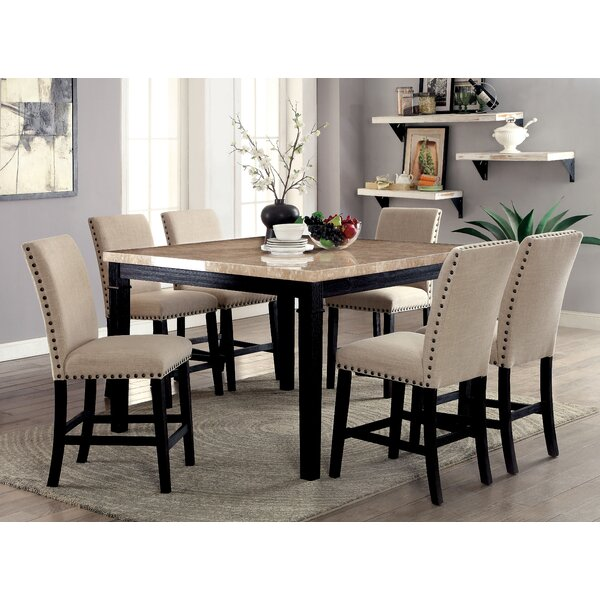 Hazel Counter Height 7 Piece Dining Set by Red Barrel Studio