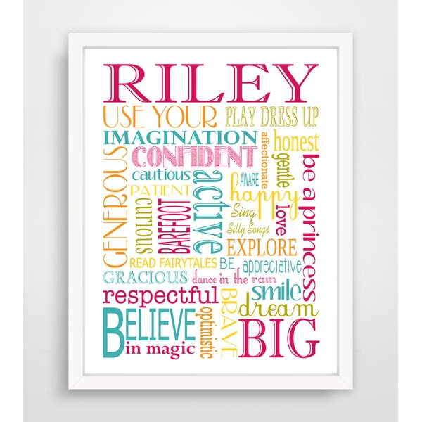 Princess Playroom Rules Paper Print by Finny and Zook