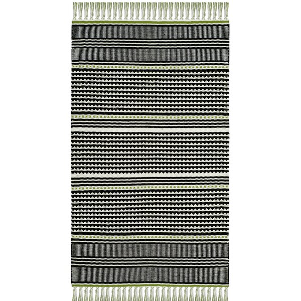Granada Hand-Woven Green/Gray Area Rug by Wrought Studio
