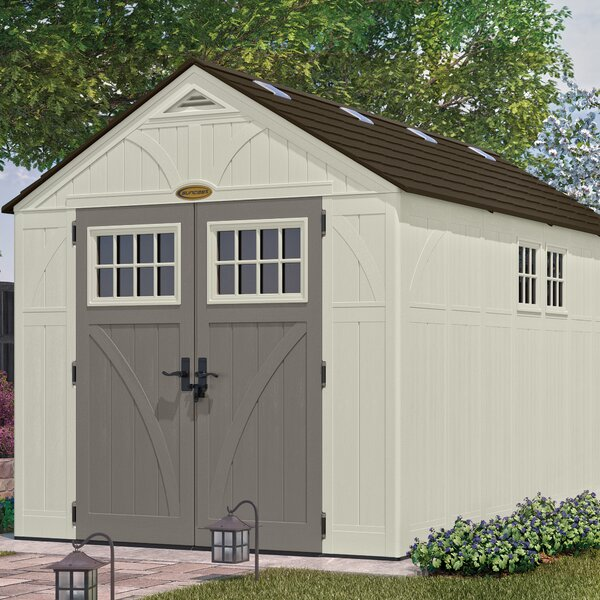 Tremont 8 ft W x 13 ft D Plastic Storage Shed by Suncast