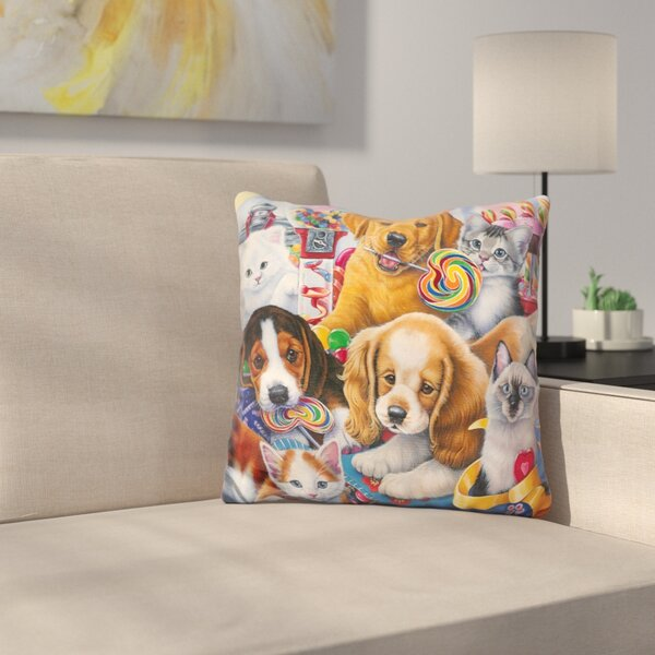 Sweet Ones Throw Pillow by East Urban Home