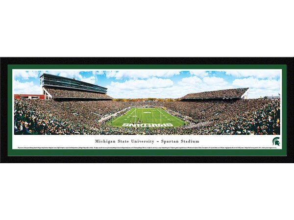 NCAA Michigan State University - End Zone by James Blakeway Framed Photographic Print by Blakeway Worldwide Panoramas, Inc