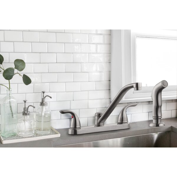 Ashland Double Handle Kitchen Faucet With Side Spray By Design House