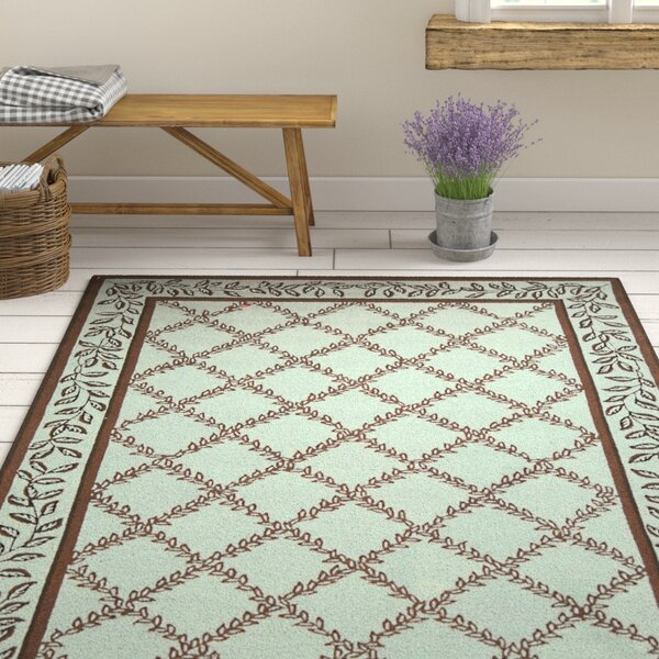 Kinchen Brown/Light Green Area Rug by August Grove