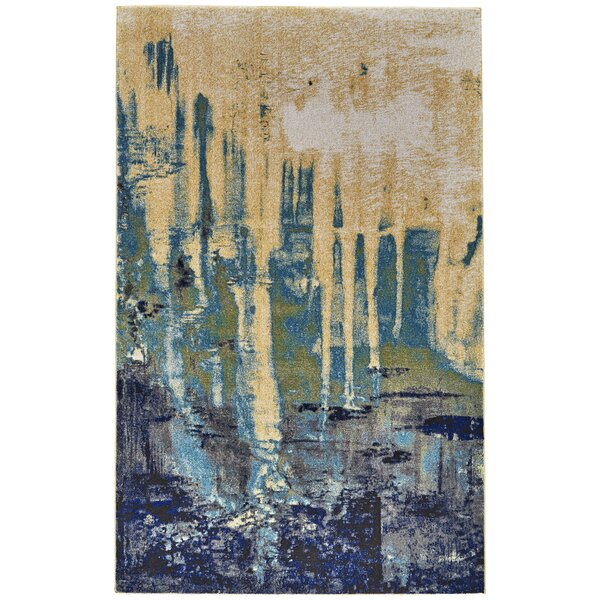 Elizabethtown Green/Blue Area Rug by Ebern Designs