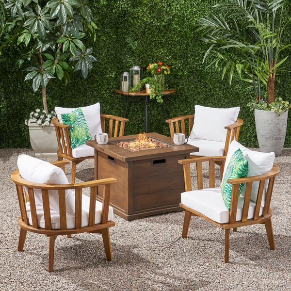 Valerie Outdoor Multiple Chairs Seating Group with Cushion by Rosecliff Heights