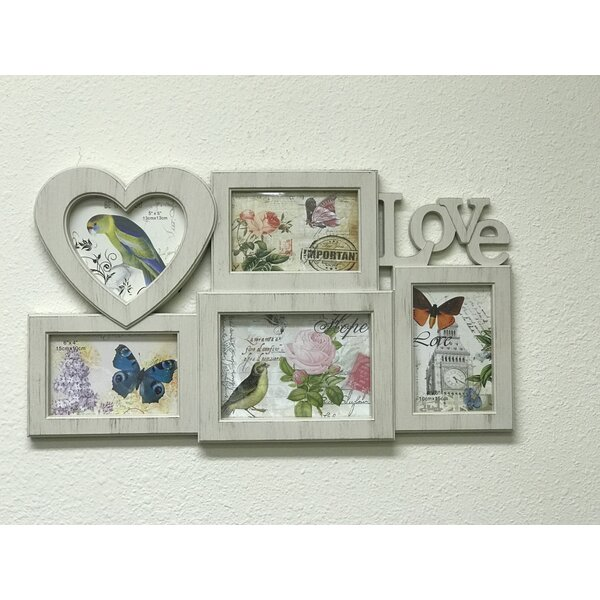 Burrier 5 Piece Picture Frame Set with Love by Winston Porter