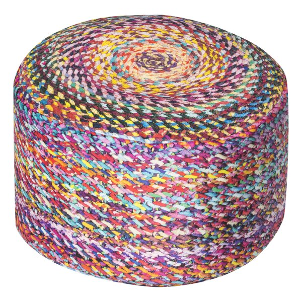 Eastham Dotcom Knotted Pouf by Bungalow Rose