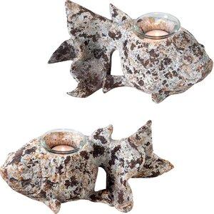 Rustic Fish Tealight (Set of 2)