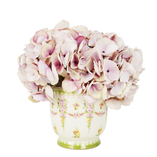 Faded Mauve Hydrangea in Victorian Vase by Ophelia & Co.