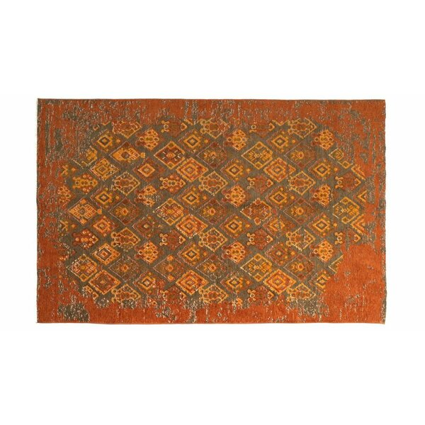 Eruh Burnt Orange Area Rug by Bloomsbury Market