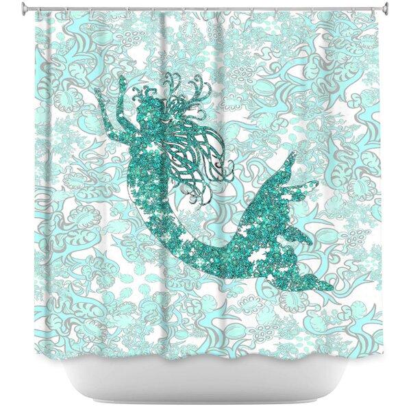 Bellingham Mermaid Shower Curtain by Harriet Bee
