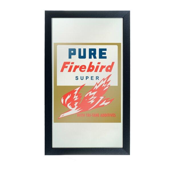 Pure Oil Firebird Framed Logo Accent Mirror by Trademark Global