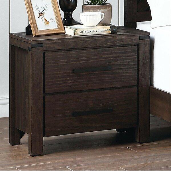 Reta 2 - Drawer Nightstand In Brown By Loon Peak®