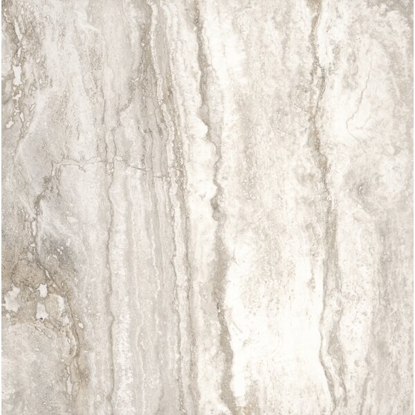 Pietra Bernini 18 x 18 Porcelain Field Tile in Cream/Warm gray by MSI