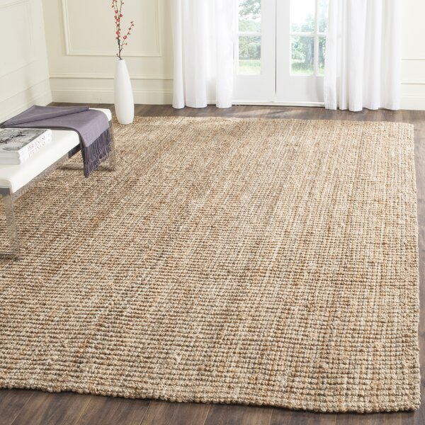 Gaines Power Loom Natural Area Rug by Charlton Home